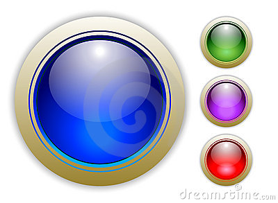 Four Vector Button Illustrations