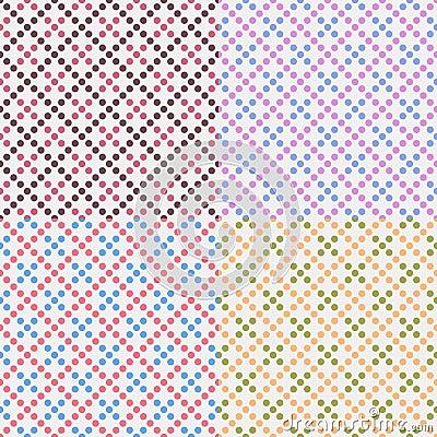 Free Four Vector Geometric Seamless Patterns Stock Photos - 21678173