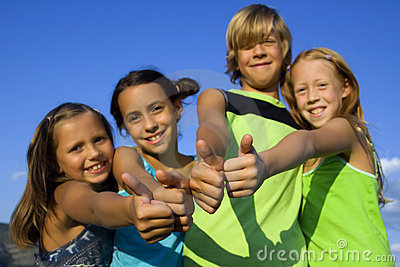 Four very positive kids