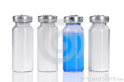 Four vials for injection