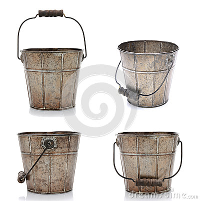 Free Four Views Of An Old Bucket Stock Photo - 32608770