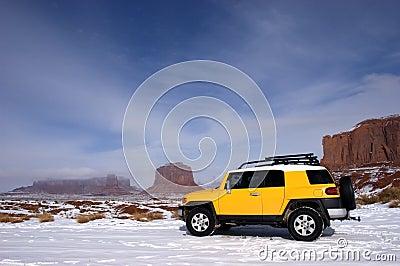 Four Wheel Drive Touring in Mountain Snow