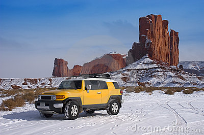 Four Wheel Drive Touring in Mountain Snow