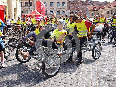Four-wheeled Bike, Lublin, Poland Stock Photography - Image: 25056112