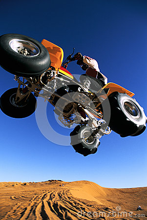 Free Four Wheeler Jumping Stock Photography - 25421712