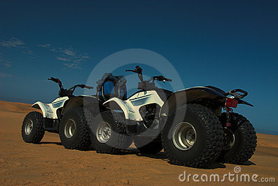 Four wheelers on the sand