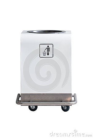 Four Wheels Modern Litter Bin.