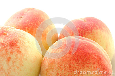 Four whole peaches