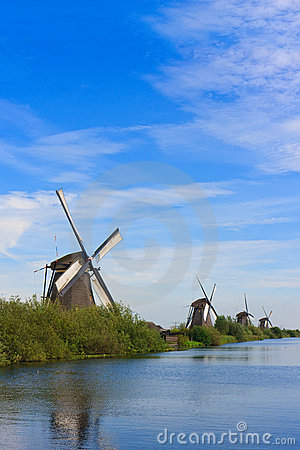 Four Windmills in row