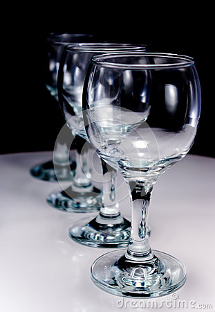 Four wineglass