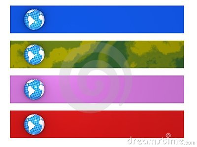 Four world banners