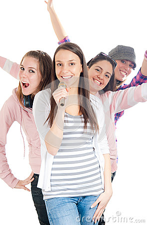Free Four Young People Having Fun Stock Photos - 44064013