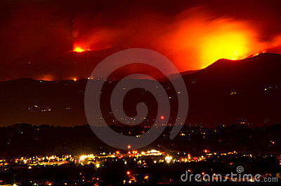 Fourmile Canyon Wildfire Rages Editorial Stock Photo