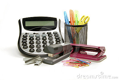 Fournitures de bureau photo stock image 15076660 for Achat fourniture de bureau