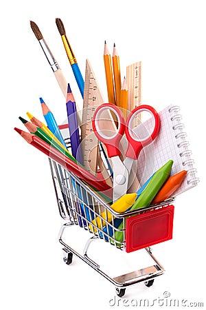 Fournitures de bureau d 39 cole ou outils de dessin dans un for Catalogue de fourniture de bureau