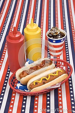 Fourth of July hotdogs