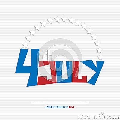 Fourth of july stylish text
