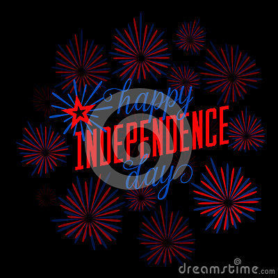 Free Fourth Of July Background. Felicitation Postcard. USA Happy Independence Day Greeting Card. Vector Illustration With Royalty Free Stock Photos - 73343948