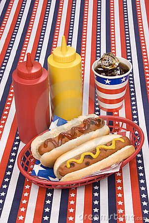 Free Fourth Of July Hotdogs Stock Photo - 9587140