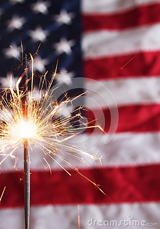 Free Fourth Of July Sparkler Royalty Free Stock Photo - 107976775