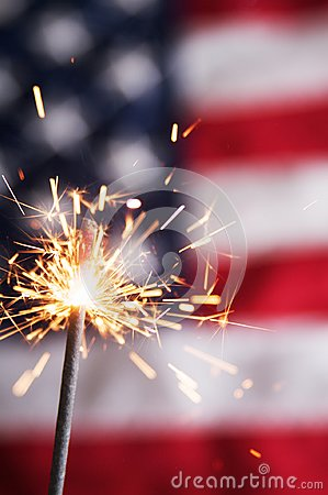 Free Fourth Of July Sparkler Stock Image - 107976951