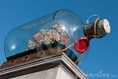 The Fourth Plinth Trafalgar Square Editorial Stock Photo