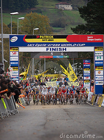 Fourth round of the 2011-2012 Cyclocross WorldCup Editorial Image