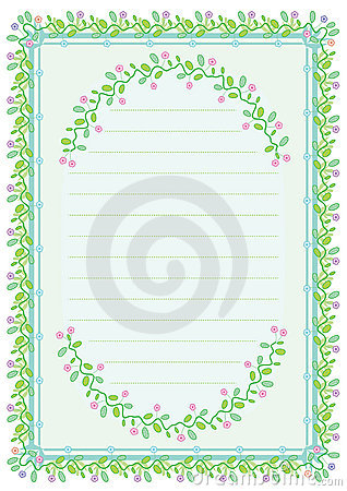 Fowers Leaves Pattern Frame_eps