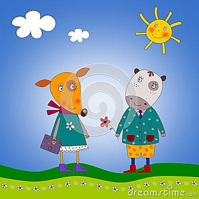 The fox and hippopotamus