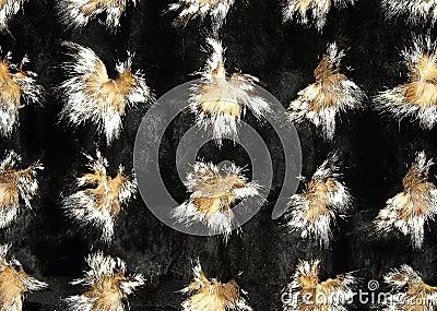 Fox and mink fur