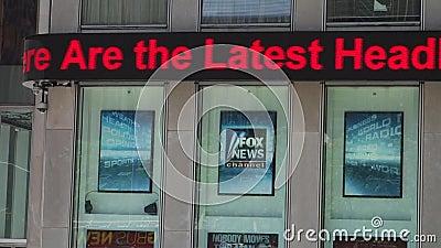 Fox News-Ticker stock footage
