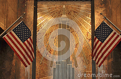 Foyer, Empire States building Editorial Stock Photo