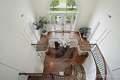 Foyer and second floor landing