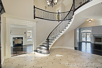 foyer-spiral-staircase- ...