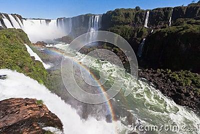 Foz do Iguassu Falls Argentina Brazil Editorial Stock Photo