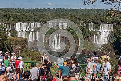 Foz do Iguassu Falls Argentina Brazil Editorial Photo