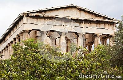 För athens för marknadsplats forntida tempel hephaistos