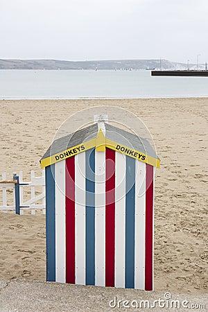 För åsnakoja för strand färgglad ritt