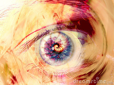 Fractal-Auge wirbelt Digital-Kunst