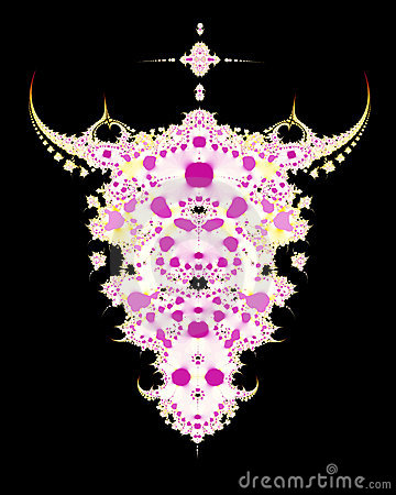 Fractal del cráneo de la vaca