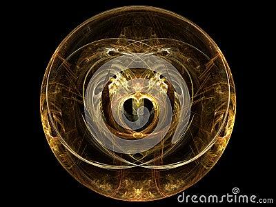 Fractal Golden Heart Sphere