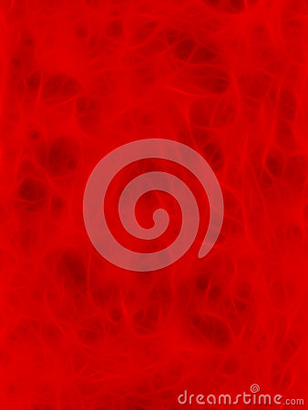A Fractal Red Organic Background