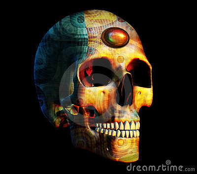 Fractal Skull with Jewel