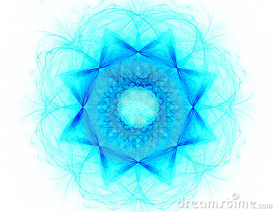 Fractal with star; abstract design, background