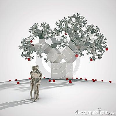 Free Fractal Tree In Digital Eden Stock Photo - 19084290