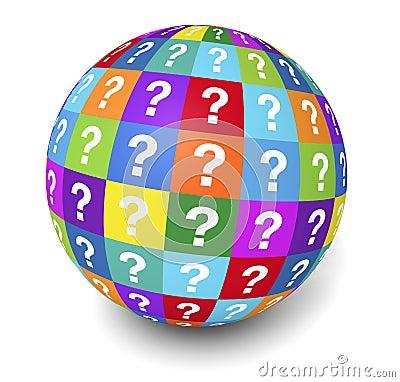 Frage Mark Globe Concept