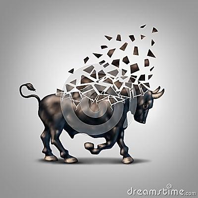 Free Fragile Bull Market Royalty Free Stock Photo - 52103395