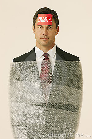 Fragile Businessman