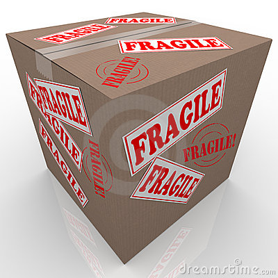 Fragile Cardboard Box Shipment Package