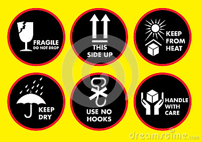 Fragile icon set